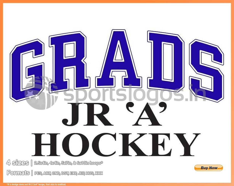 Cumberland Grads - 2014/15, Central Canada Hockey League, Hockey Sports  Embroidery Logo in 4 sizes - SPLN001084