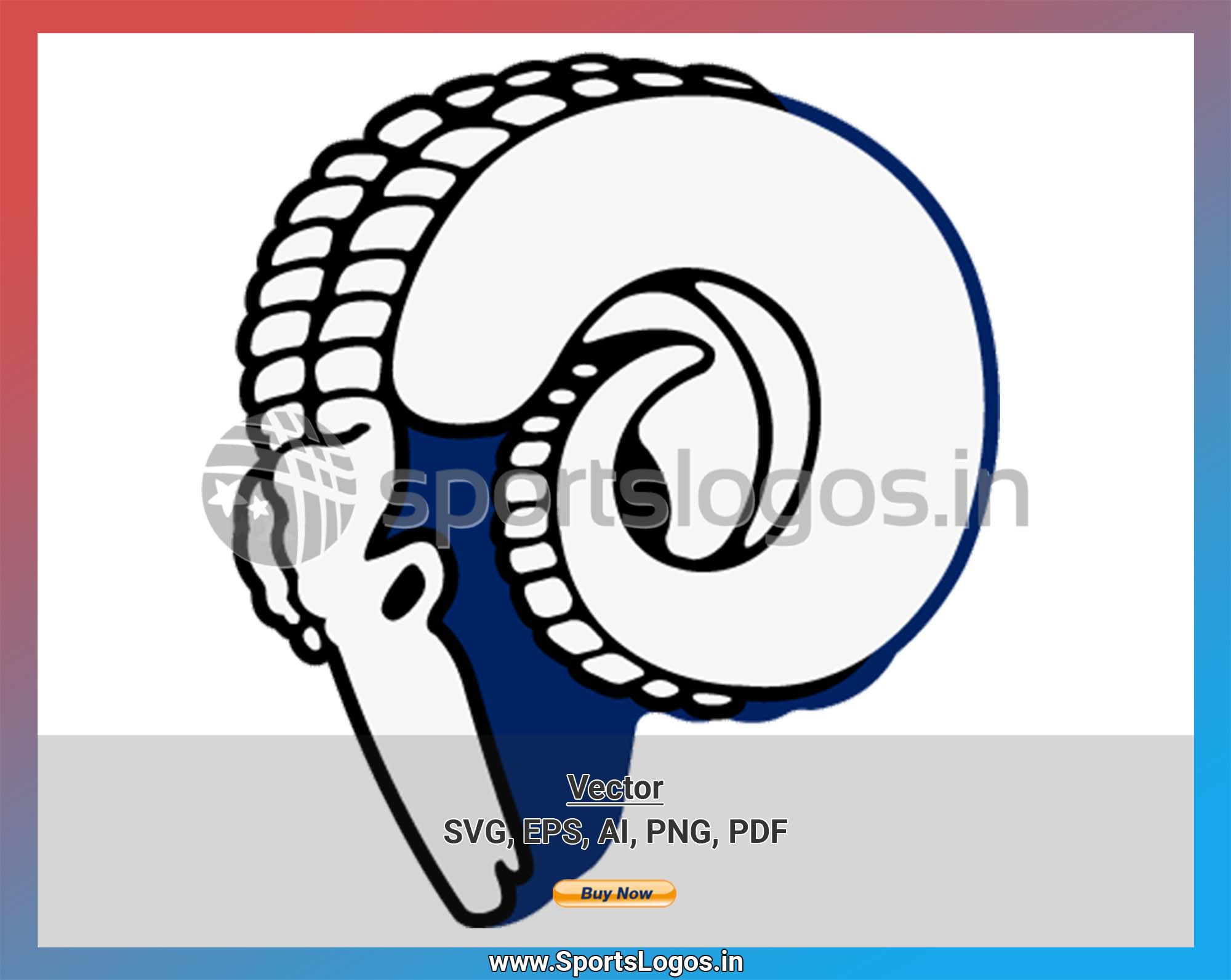 Los Angeles Rams Football Sports Vector Svg Logo In 5 Formats Spln002441 Sports Logos Embroidery Vector For Nfl Nba Nhl Mlb Milb And More