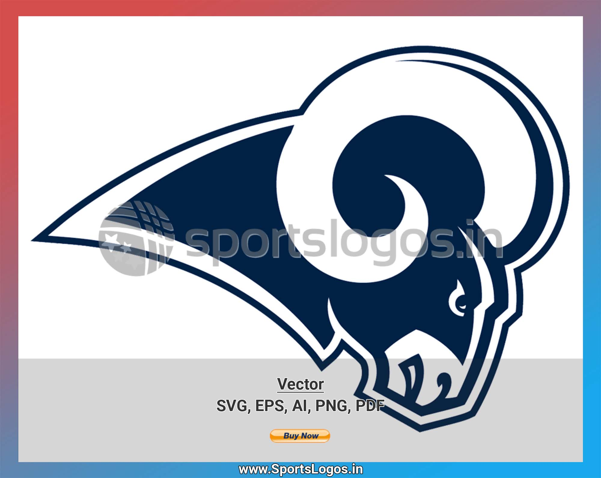 Los Angeles Rams Football Sports Vector Svg Logo In 5 Formats Spln002447 Sports Logos Embroidery Vector For Nfl Nba Nhl Mlb Milb And More